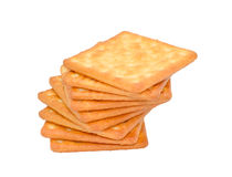 Cracker biscuit isolated on white background Royalty Free Stock Images