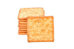 Cracker biscuit isolated on white background Stock Photo