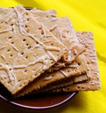 Cracker biscuits close up Royalty Free Stock Image