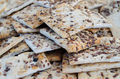 Cracker biscuits with different seeds Stock Photography