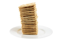 Cracker Biscuits on Plate Stock Photos