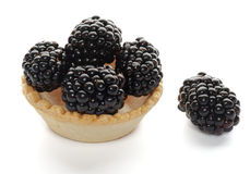 Cracker with Blackberries Royalty Free Stock Photo