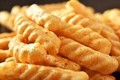 Cracker caldi e piccanti del gamberetto Fotografia Stock