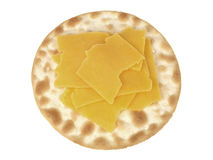 Cracker and Cheese Royalty Free Stock Photography