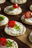 Cracker and Cheese Hors D'oeuvres Royalty Free Stock Images