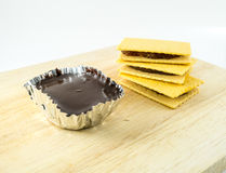 cracker and chocolate moose Stock Photography