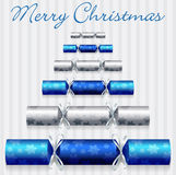 Cracker Christmas Card Royalty Free Stock Images