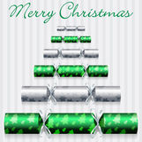 Cracker Christmas Card Stock Photography