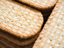 Cracker Closeup. Dry cracker snack closeup background Royalty Free Stock Images