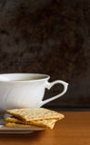 Cracker with coffee Stock Images
