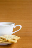 Cracker with coffee Stock Photos