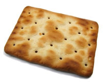 Cracker cookie 2. An isolated cracker cookie image Royalty Free Stock Photo