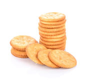 Cracker cookie on white background Stock Images