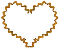 Cracker cookies in the shape of a zigzag in the contour of hearts isolated Royalty Free Stock Image