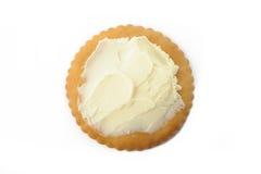 Cracker with cream cheese Stock Image