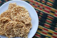 Cracker croccante dolce tailandese del riso Fotografia Stock Libera da Diritti