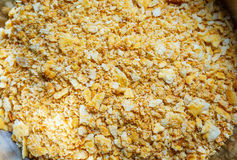 Cracker crust. Preparation of dessert Stock Photos