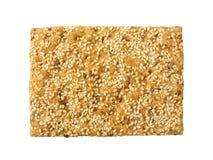 Cracker dei semi di sesamo Immagine Stock Libera da Diritti