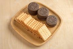 Cracker del biscotto Fotografie Stock