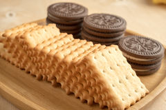 Cracker del biscotto Immagini Stock