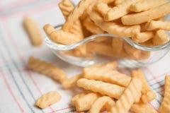 Cracker del gamberetto immagine stock