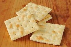Cracker del Saltine Fotografie Stock