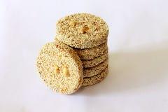 Cracker del sesamo Fotografia Stock Libera da Diritti