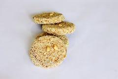 Cracker del sesamo Fotografie Stock Libere da Diritti