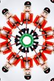 Cracker della noce attraverso il caleidoscopio Immagine Stock