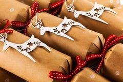 Cracker di Natale Fotografia Stock Libera da Diritti