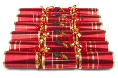 Cracker di Natale Fotografie Stock Libere da Diritti