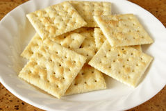 Cracker di soda Immagine Stock