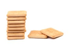 Cracker di soda del Saltine Fotografia Stock