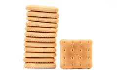 Cracker di soda del saltine del palo. Fotografia Stock