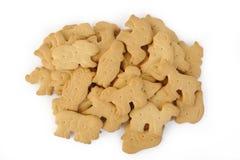Cracker die op witte achtergrond wordt geïsoleerdg Stock Foto's