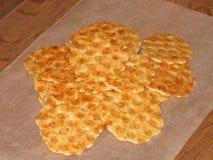 Cracker dorato del formaggio Immagine Stock Libera da Diritti