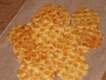 Cracker dorato del formaggio Fotografia Stock Libera da Diritti