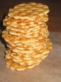 Cracker dorato del formaggio Fotografia Stock