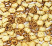 Cracker e ciambelline salate Fotografia Stock Libera da Diritti