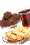 Cracker e tè Immagini Stock Libere da Diritti