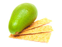 Cracker ed avocado Immagine Stock