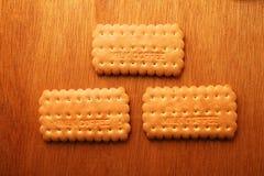 Cracker en koekje stock foto