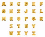 Cracker in Form von dem Alphabet Stockbilder