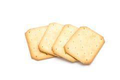 Cracker gestapelt lokalisiert Stockfotografie