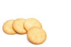 Cracker gestapelt lokalisiert Stockbild