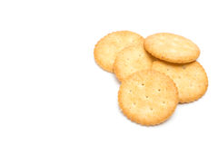 Cracker gestapelt lokalisiert Lizenzfreies Stockfoto