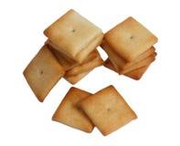 Cracker getrennt auf Weiß Lizenzfreies Stockfoto
