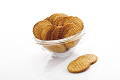 Cracker in glass bowl Stock Photo