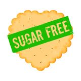 Cracker icon with words sugar free vector illustration