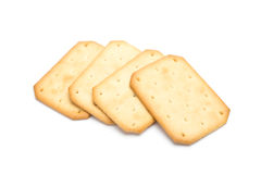 Cracker impilati isolati Immagine Stock